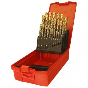 Dormer A095 No.200 24 Piece High Speed Steel Drill Set Tin Tip in Case Metric A095200