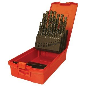 Dormer A190 No.204 25 Piece High Speed Steel Drill Set in Case Metric A190204