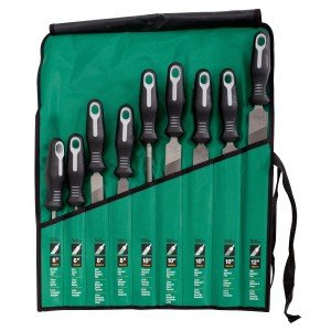 Nicholson 9 Piece File Maintenance Kit, Ergonomic Handles 22030HNN