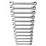 GearWrench 12-Piece Metric Ratcheting Open End Spanner Set 85597