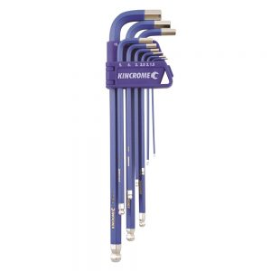 Kincrome K5043 Ball Point Hex Key Set Long Series 9 Piece Metric