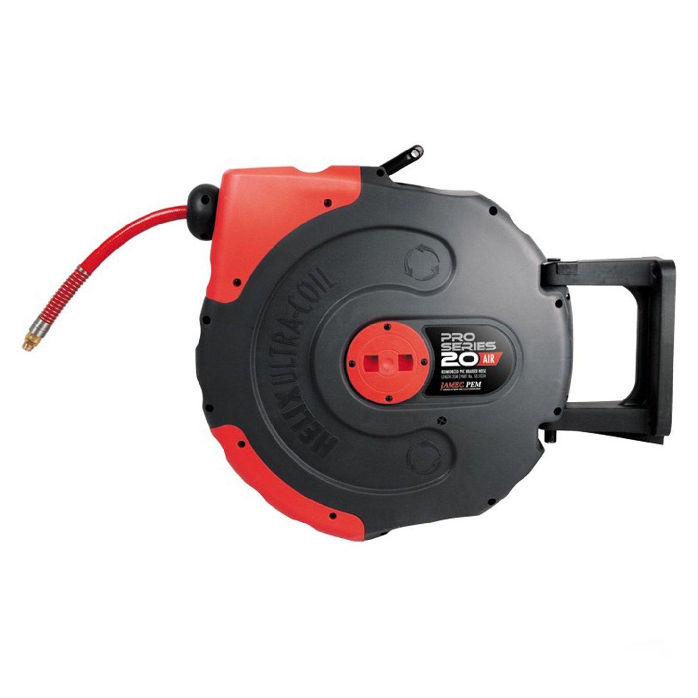 Jamec Pem Pro Series HELIX Retractable Air Hose Reel 300psi 20m 58.1034