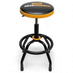 GEARWRENCH 86992 Workshop Adjustable Height Swivel Shop Stool 67cm to 79cm