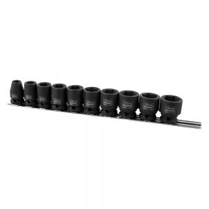 "Kincrome K2091 Impact Socket Set Rail 10 Piece 3/8"" Drive - Metric"