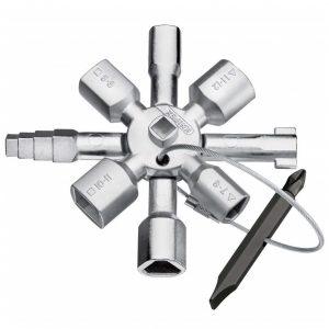 Knipex 001101 TWINKEY® Switchboard Multifunction Panel & Shut Off Key