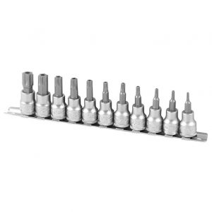 AOK BSK3-11T by KC Tools Tamperproof Torx® Star Bit Socket Set 11 Piece 3/8″ Drive 'BSK3-11T'