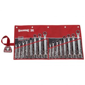 Sidchrome SCMT22201 16 Piece 467 Pro Series Ratcheting / Geared Spanners Set Metric