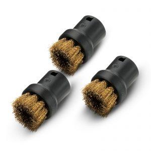 Karcher 2.863-061.0 Round Brush with Brass Bristles Set 3 Piece Suits Steam Cleaner SC 1 2 3 4 5