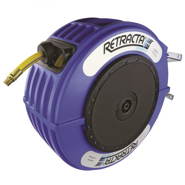 "Macnaught AW315B-01 R3 10mm (3/8"") x 15m RETRACTA High Quality Air/Water Hose Reel Blue Case - Made in Australia"
