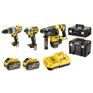 DeWalt DCZ333X2T-XE 18V/54V XR 9.0Ah FLEXVOLT Brushless Lithium-Ion 3 Tool Combo Kit