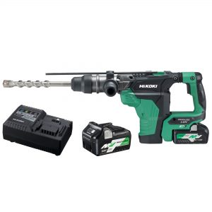 HiKOKI – HITACHI DH36DMA(HAZ) 36V MultiVolt 5.0Ah/2.5Ah Lithium-Ion Brushless 8.5J SDS Max Rotary Hammer Kit