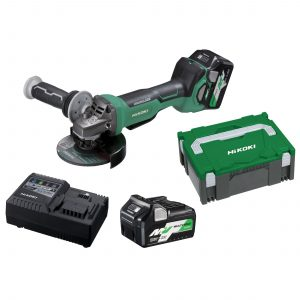 "HiKOKI – HITACHI G3613DB(H4Z) 36V MultiVolt Lithium-Ion Brushless 5"" 125mm Angle Grinder with Paddle Switch - Skin"