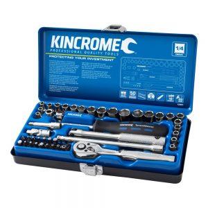 "Kincrome K28001 Socket Set 48 Piece 1/4"" Drive - Metric & Imperial"