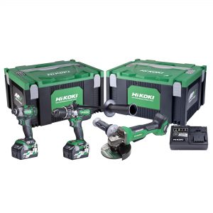 HiKOKI – HITACHI KC36DDBL(HRZ) 3 Piece 18V/36V MultiVolt Brushless Combination Pack Hammer Drill/Driver + Impact Driver + Grinder Kit - Redemption as Per HiKOKI Power Tools Australia