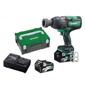 "HiKOKI - HITACHI WR36DA(HRZ) 36V MultiVolt 5.0Ah/2.5Ah Lithium-Ion Brushless IP56 1800Nm High Torque 3/4"" Drive Impact Wrench Kit"