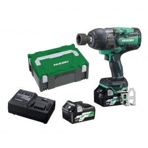 "HiKOKI - HITACHI WR36DB(HRZ) 36V MultiVolt 5.0Ah/2.5Ah Lithium-Ion Brushless IP56 1650Nm High Torque 1/2"" Drive Impact Wrench Kit"