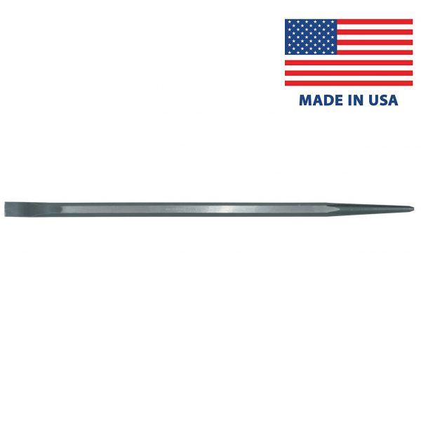 "Armstrong 70-505 Aligning Pry Bar - Ground/Straight/Tapered Tip - 26"" / 600mm - High Alloy Steel - Made in USA"