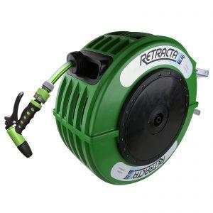 Macnaught DR418G-03 RETRACTA 12.5mmx18m Premium Garden Hose Horticultural Green Reel