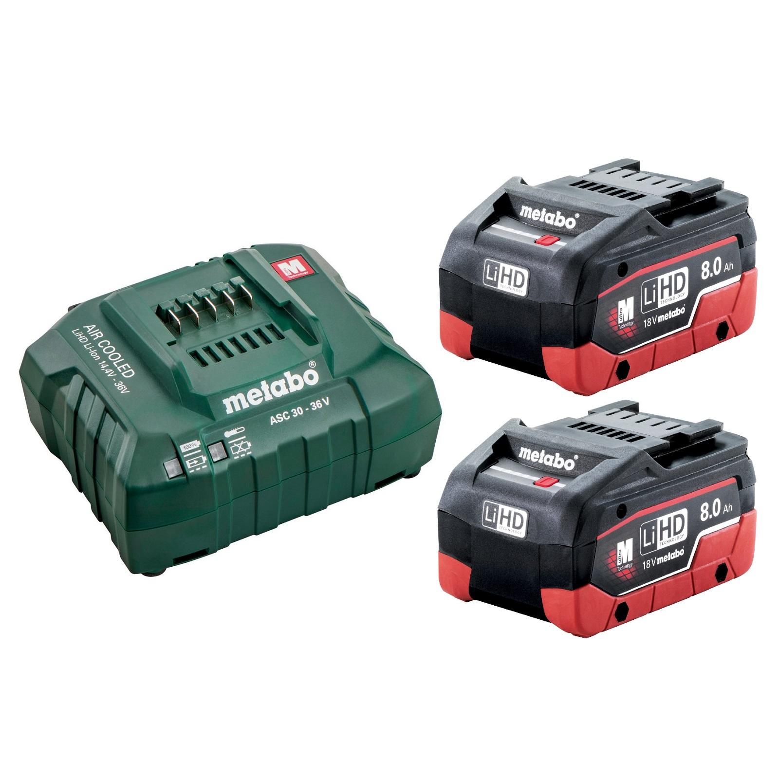 8,0 Ah HD-Batterie avec Optimal Performance 625369000 cas Metabo Pack Batterie LiHD 18 V